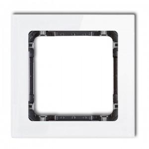Karlik Deco 0-11-DRS-1 - Ramka pojedyncza DECO Efekt Szkła - Podstawa w kolorze Grafitowym - Plexi Białe - Podgląd zdjęcia producenta