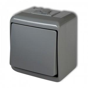 Karlik Junior 10WHE-1 - Łącznik pojedynczy hermetyczny IP56 - Popielaty - Podgląd zdjęcia producenta