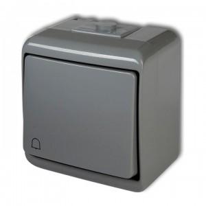 Karlik Junior 10WHE-4 - Przycisk zwierny dzwonek hermetyczny IP56 - Popielaty - Podgląd zdjęcia producenta
