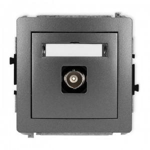 Karlik Deco 11DGBNC-1 - Gniazdo pojedyncze typu BNC - Grafitowy - Podgląd zdjęcia producenta