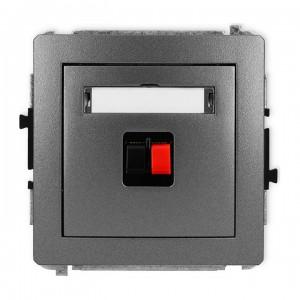 Karlik Deco 11DGG-1 - Gniazdo głośnikowe pojedyncze, przyłącze 2,5mm2 - Grafitowy - Podgląd zdjęcia producenta