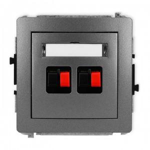 Karlik Deco 11DGG-2 - Gniazdo głośnikowe podwójne, przyłącze 2,5mm2 - Grafitowy - Podgląd zdjęcia producenta