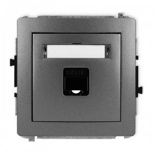 Karlik Deco 11DGK-1 - Gniazdo komputerowe pojedyncze 1x RJ45 kat.5e, 8 stykowe - Grafitowy - Podgląd zdjęcia producenta