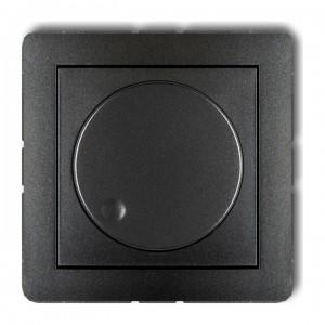 Karlik Deco 11DRO-2 - Ściemniacz przyciskowo-obrotowy do oświetlenia typu LED 0-100W - Grafitowy - Podgląd zdjęcia producenta