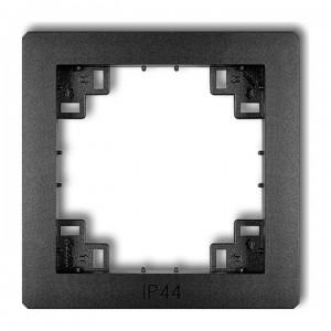 Karlik Deco 11DRPH - Ramka pośrednia z piktogramem IP44 - Grafitowy - Podgląd zdjęcia producenta