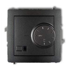 Karlik Deco 11DRT-2 - Regulator temperatury z czujnikiem wewnętrznym 3200W (termostat), zakres 5-40st. - Grafitowy - Podgląd zdjęcia producenta