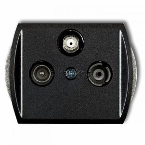 Karlik Trend 11GSP - Gniazdo antenowe RTV-SAT przelotowe 10dB, jedno wejście antenowe - Grafitowy - Podgląd zdjęcia producenta