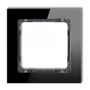 Karlik Deco 12-11-DRS-1 - Ramka pojedyncza DECO Efekt Szkła - Podstawa w kolorze Grafitowym - Plexi Czarne - Podgląd zdjęcia producenta