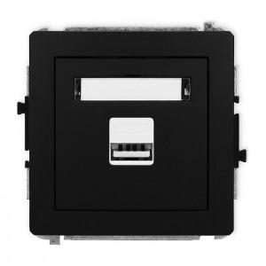 Karlik Deco 12DCUSB-1 - Ładowarka USB, napięcie 5V, prąd 1A - Czarny Mat - Podgląd zdjęcia producenta