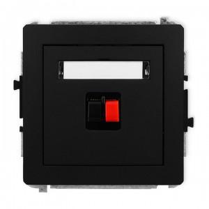 Karlik Deco 12DGG-1 - Gniazdo głośnikowe pojedyncze, przyłącze 2,5mm2 - Czarny Mat - Podgląd zdjęcia producenta