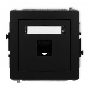 Karlik Deco 12DGK-1 - Gniazdo komputerowe pojedyncze 1x RJ45 kat.5e, 8 stykowe - Czarny Mat - Podgląd zdjęcia producenta