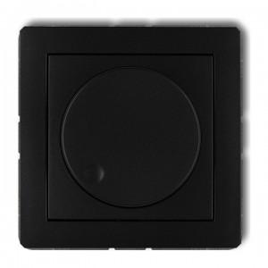 Karlik Deco 12DRO-1 - Ściemniacz przyciskowo-obrotowy do oświetlenia żarowego i halogenowego 40-400W - Czarny Mat - Podgląd zdjęcia producenta