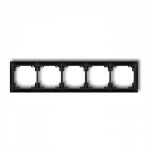 Karlik Deco 12DRSO-5 - Ramka pięciorkotna DECO Soft - Czarny Mat - Podgląd zdjęcia producenta