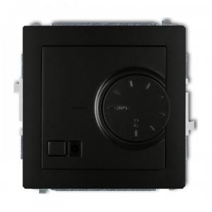 Karlik Deco 12DRT-1 - Regulator temperatury z czujnikiem zewnętrznym 3200W (termostat), sonda w zestawie, zakres 5-40st. - Czarny Mat - Podgląd zdjęcia producenta