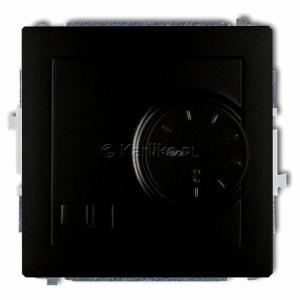 Karlik Deco 12DRT-2 - Regulator temperatury z czujnikiem wewnętrznym 3200W (termostat), zakres 5-40st. - Czarny Mat - Podgląd zdjęcia producenta