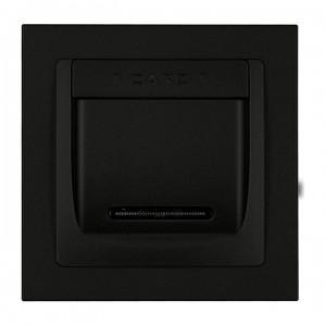 Karlik Deco 12DSH-1 - Łącznik hotelowy z podświetleniem LED 16A, produkt z ramką - Czarny Mat - Podgląd zdjęcia producenta