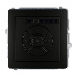 Karlik Deco 12DSR-1 - Elektroniczny sterowniik roletowy, sterowanie lokalne - Czarny Mat - Podgląd zdjęcia producenta