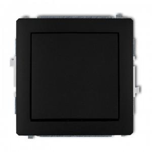 Karlik Deco 12DWP-4.1 - Przycisk zwierny 10A, zaciski śrubowe - Czarny Mat - Podgląd zdjęcia producenta
