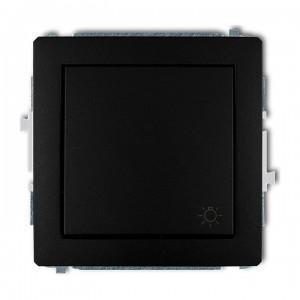 Karlik Deco 12DWP-5 - Przycisk zwierny z piktogramem Światła 10A, zaciski śrubowe - Czarny Mat - Podgląd zdjęcia producenta