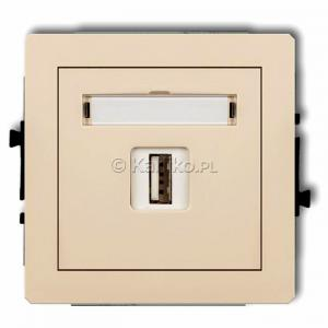 Karlik Deco 1DCUSB-1 - Ładowarka USB, napięcie 5V, prąd 1A - Beżowy - Podgląd zdjęcia producenta