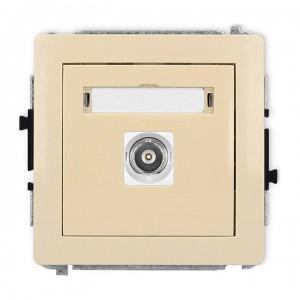 Karlik Deco 1DGBNC-1 - Gniazdo pojedyncze typu BNC - Beżowy - Podgląd zdjęcia producenta