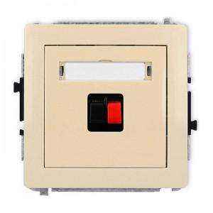 Karlik Deco 1DGG-1 - Gniazdo głośnikowe pojedyncze, przyłącze 2,5mm2 - Beżowy - Podgląd zdjęcia producenta