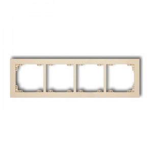 Karlik Deco 1DR-4 - Ramka czterokrotna DECO - Beżowy - Podgląd zdjęcia producenta