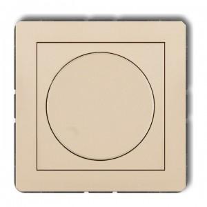 Karlik Deco 1DRO-1 - Ściemniacz przyciskowo-obrotowy do oświetlenia żarowego i halogenowego 40-400W - Beżowy - Podgląd zdjęcia producenta