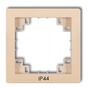 Karlik Deco 1DRPH - Ramka pośrednia z piktogramem IP44 - Beżowy - Podgląd zdjęcia producenta