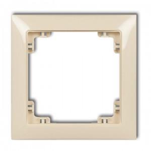 Karlik Deco 1DRSO-1 - Ramka pojedyncza DECO Soft - Beżowy - Podgląd zdjęcia producenta