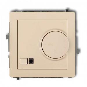 Karlik Deco 1DRT-1 - Regulator temperatury z czujnikiem zewnętrznym 3200W (termostat), sonda w zestawie, zakres 5-40st. - Beżowy - Podgląd zdjęcia producenta