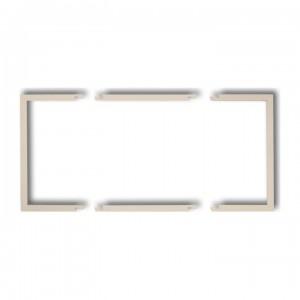 Karlik Deco 1DRW-2 - Ramka wypełniająca podwójna, eliminuje przestrzeń pomiędzy ramką, a ścianą, wyłącznie do ramek DECO oraz DECO Pastel Matt - Beżowy - Podgląd zdjęcia producenta