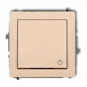 Karlik Deco 1DWP-5 - Przycisk zwierny z piktogramem Światła 10A, zaciski śrubowe - Beżowy - Podgląd zdjęcia producenta