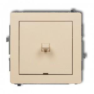 Karlik Deco 1DWPUS-1 - Łącznik pojedynczy dźwigniowy 10A, zaciski śrubowe - Beżowy - Podgląd zdjęcia producenta