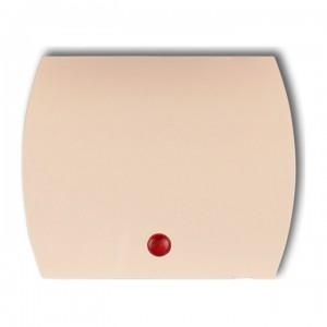 Karlik Trend 1KZO - Puszka montażowa natynkowa, czterokrotna - Beżowy - Podgląd zdjęcia producenta