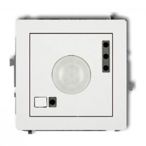 Karlik Deco 25DCR-1 - Łącznik z czujnikiem ruchu 3200W, zasięg 7m, kąt 136st. - Biały Mat - Podgląd zdjęcia producenta