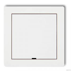 Karlik Deco 25DRPZ - Zaślepka ramki, wymagana kostka KM w przypadku ramki pojedynczej i/lub miejsc skrajnych ramki - Biały Mat - Podgląd zdjęcia producenta