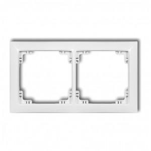 Karlik Deco 25DRSO-2 - Ramka podwójna DECO Soft - Biały Mat - Podgląd zdjęcia producenta