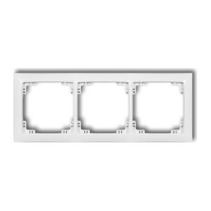 Karlik Deco 25DRSO-3 - Ramka potrójna DECO Soft - Biały Mat - Podgląd zdjęcia producenta