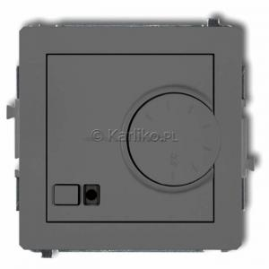 Karlik Deco 27DRT-1 - Regulator temperatury z czujnikiem zewnętrznym 3200W (termostat), sonda w zestawie, zakres 5-40st. - Szary Mat - Podgląd zdjęcia producenta