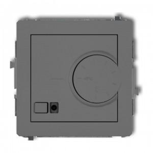 Karlik Deco 27DRT-2 - Regulator temperatury z czujnikiem wewnętrznym 3200W (termostat), zakres 5-40st. - Szary Mat - Podgląd zdjęcia producenta