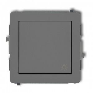 Karlik Deco 27DWP-5 - Przycisk zwierny z piktogramem Światła 10A, zaciski śrubowe - Szary Mat - Podgląd zdjęcia producenta