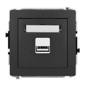 Karlik Deco 28DCUSB-1 - Ładowarka USB, napięcie 5V, prąd 1A - Grafitowy Mat - Podgląd zdjęcia producenta