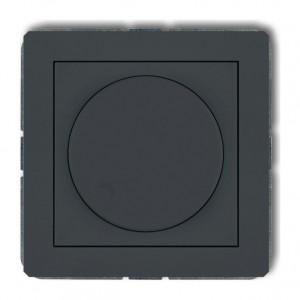 Karlik Deco 28DRO-1 - Ściemniacz przyciskowo-obrotowy do oświetlenia żarowego i halogenowego 40-400W - Grafitowy Mat - Podgląd zdjęcia producenta