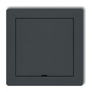 Karlik Deco 28DRPZ - Zaślepka ramki, wymagana kostka KM w przypadku ramki pojedynczej i/lub miejsc skrajnych ramki - Grafitowy Mat - Podgląd zdjęcia producenta