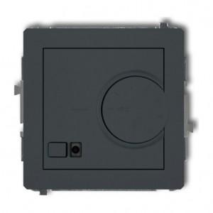 Karlik Deco 28DRT-2 - Regulator temperatury z czujnikiem wewnętrznym 3200W (termostat), zakres 5-40st. - Grafitowy Mat - Podgląd zdjęcia producenta