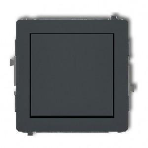 Karlik Deco 28DWP-4.1 - Przycisk zwierny 10A, zaciski śrubowe - Grafitowy Mat - Podgląd zdjęcia producenta
