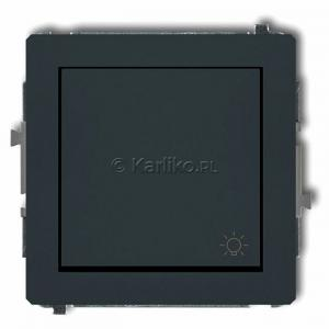Karlik Deco 28DWP-5 - Przycisk zwierny z piktogramem Światła 10A, zaciski śrubowe - Grafitowy Mat - Podgląd zdjęcia producenta