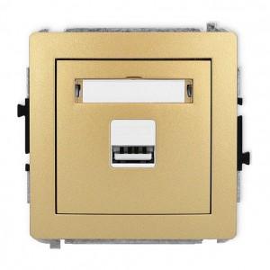 Karlik Deco 29DCUSB-1 - Ładowarka USB, napięcie 5V, prąd 1A - Złoty - Podgląd zdjęcia producenta