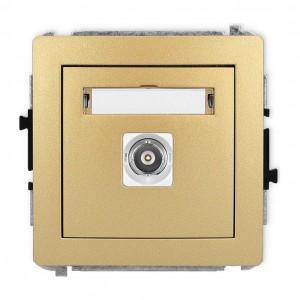 Karlik Deco 29DGBNC-1 - Gniazdo pojedyncze typu BNC - Złoty - Podgląd zdjęcia producenta